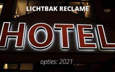 Lichtbak reclame opties in 2021